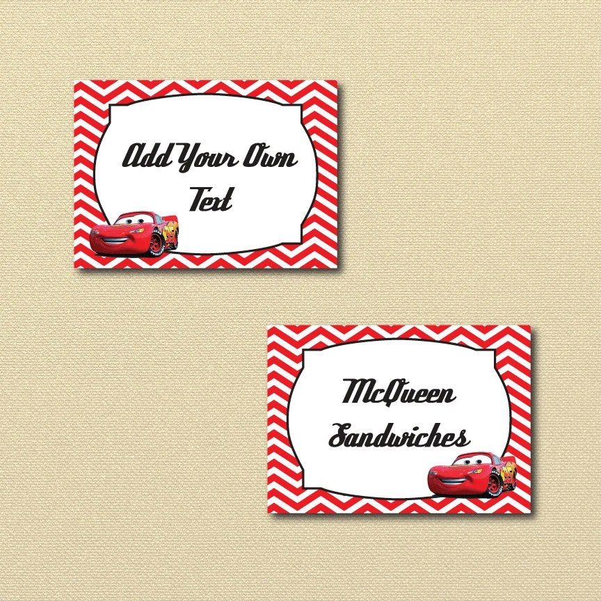 Lightning McQueen Party Printables printable Cars labels Etsy