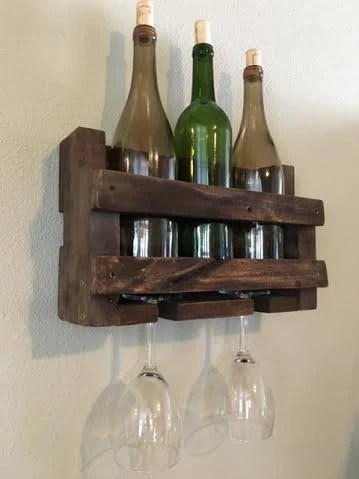 Small Wine Stand Small Pallet Wine Rack Wine Holder Wall Mounted Wine Rack Rustic Wine Rack