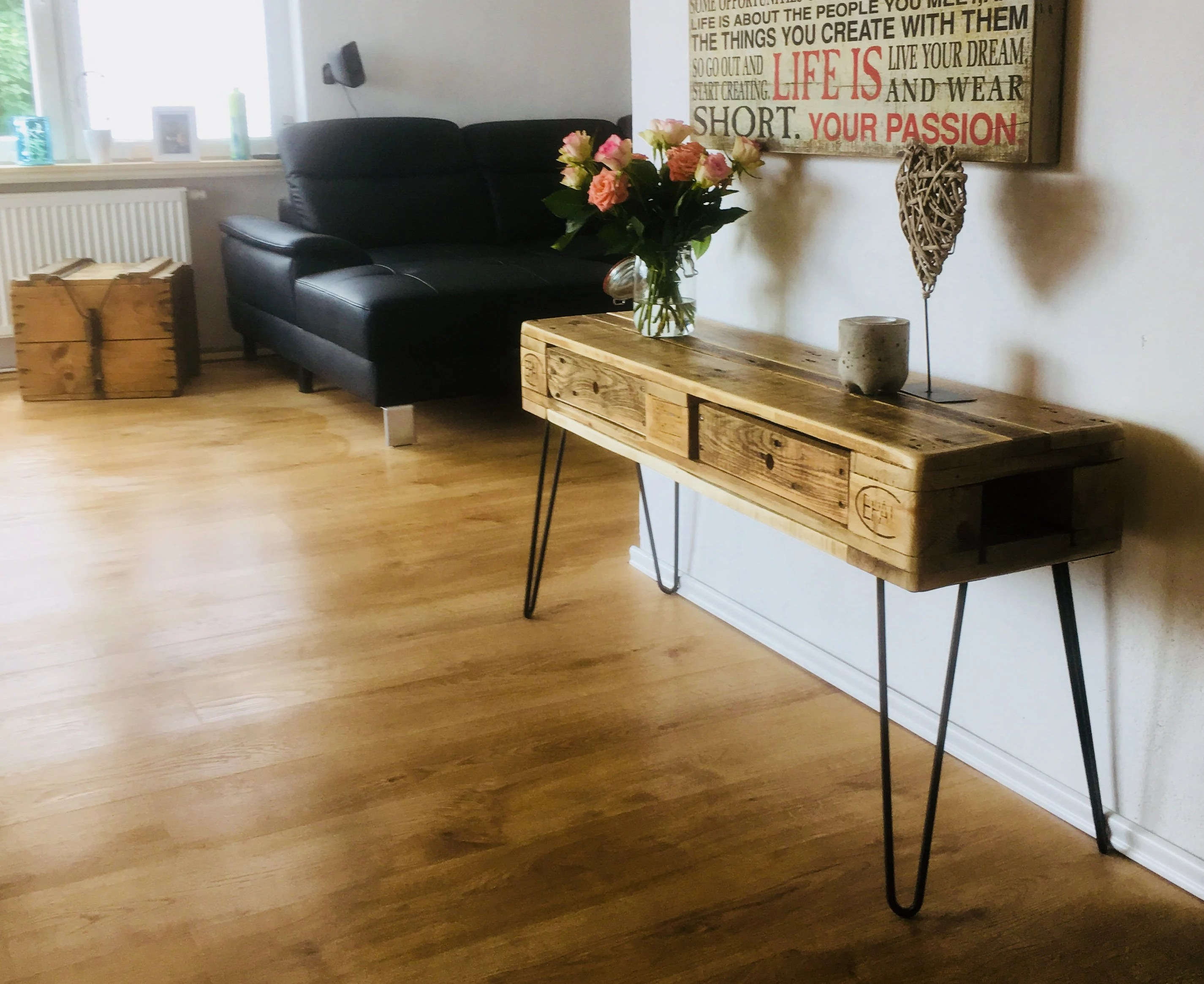 Couchtisch Hairpin Legs Palettenkommode Sideboard With Hairpin Legs