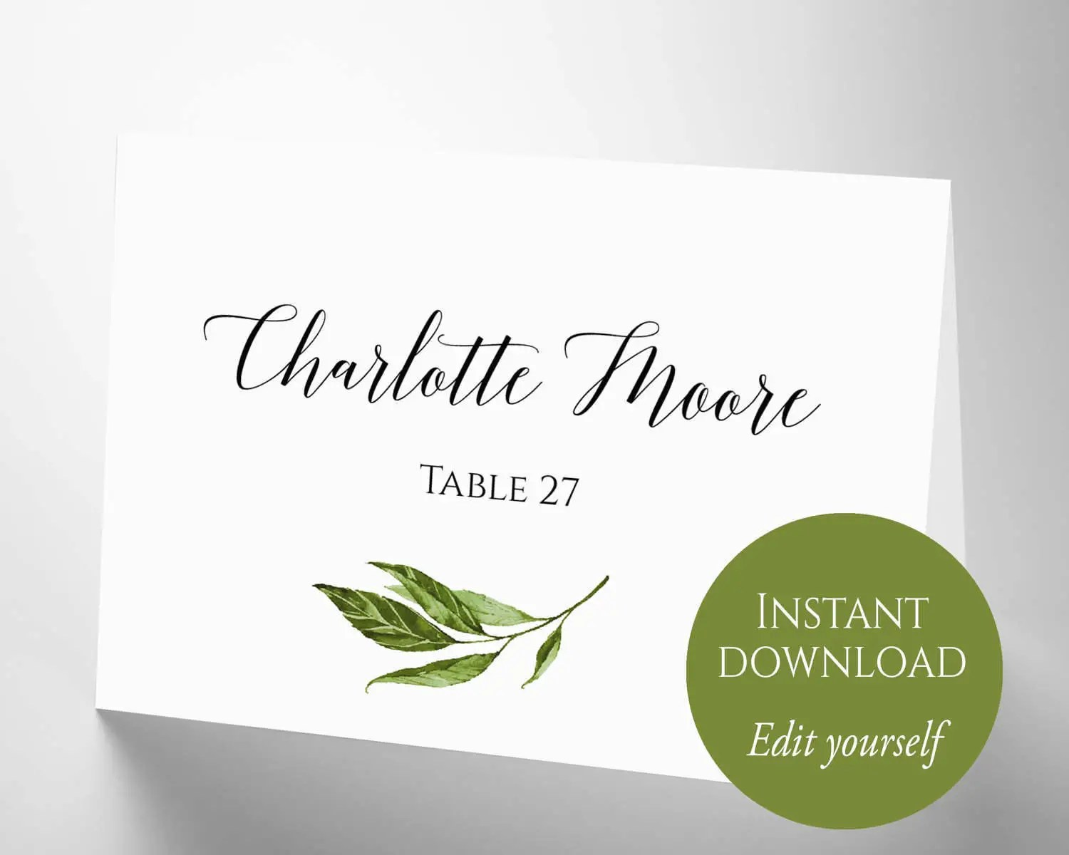 Place Cards Place Card Template Place Cards Wedding Etsy
