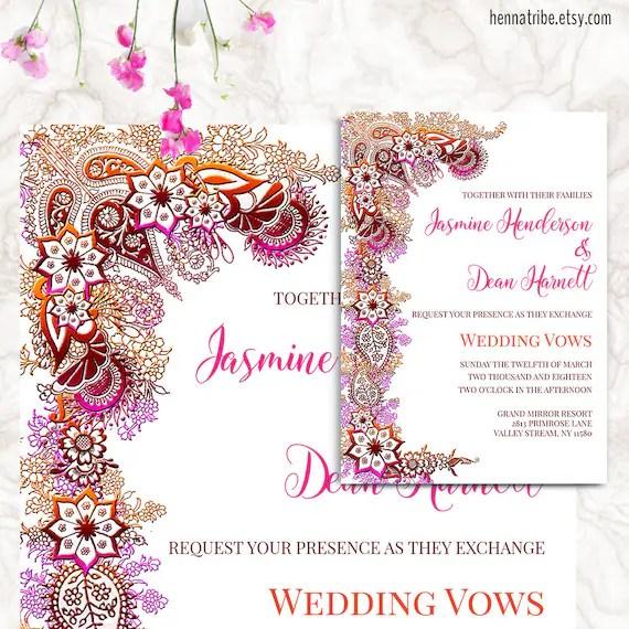 Bollywood Invitation - Printable Wedding Invitation - Indian