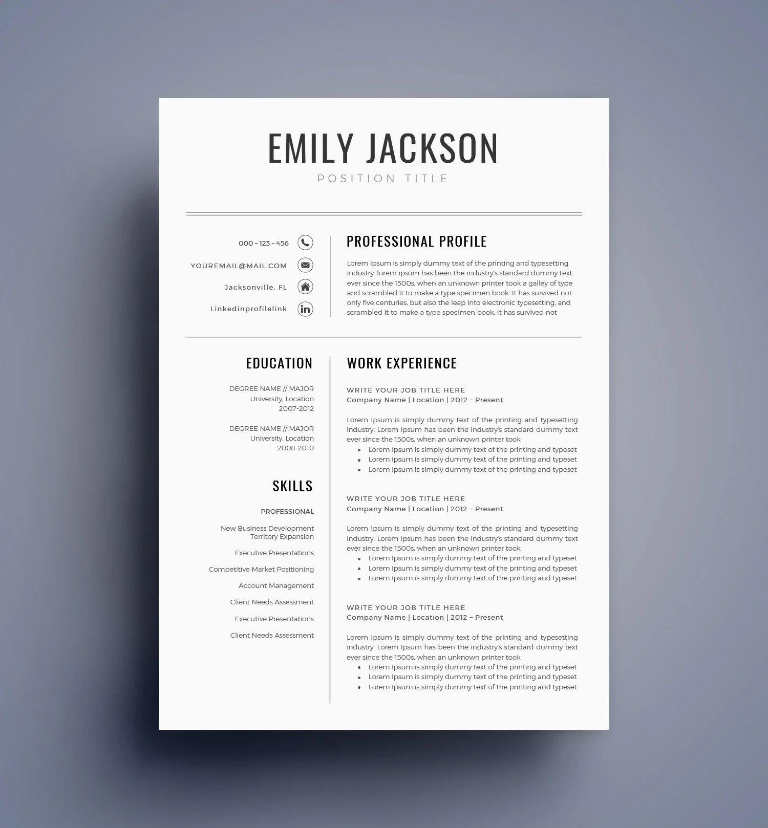 best resume templates visual