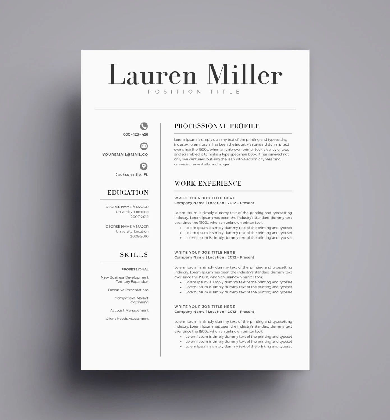 tailored cv templates