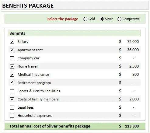 Employee Benefits Package Analysis template Etsy