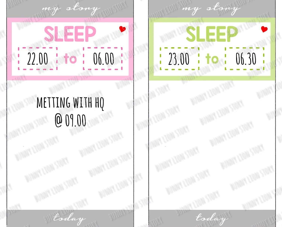 50014 SLEEP Log Timetable Shift Planning Box Cute Kawaii Etsy