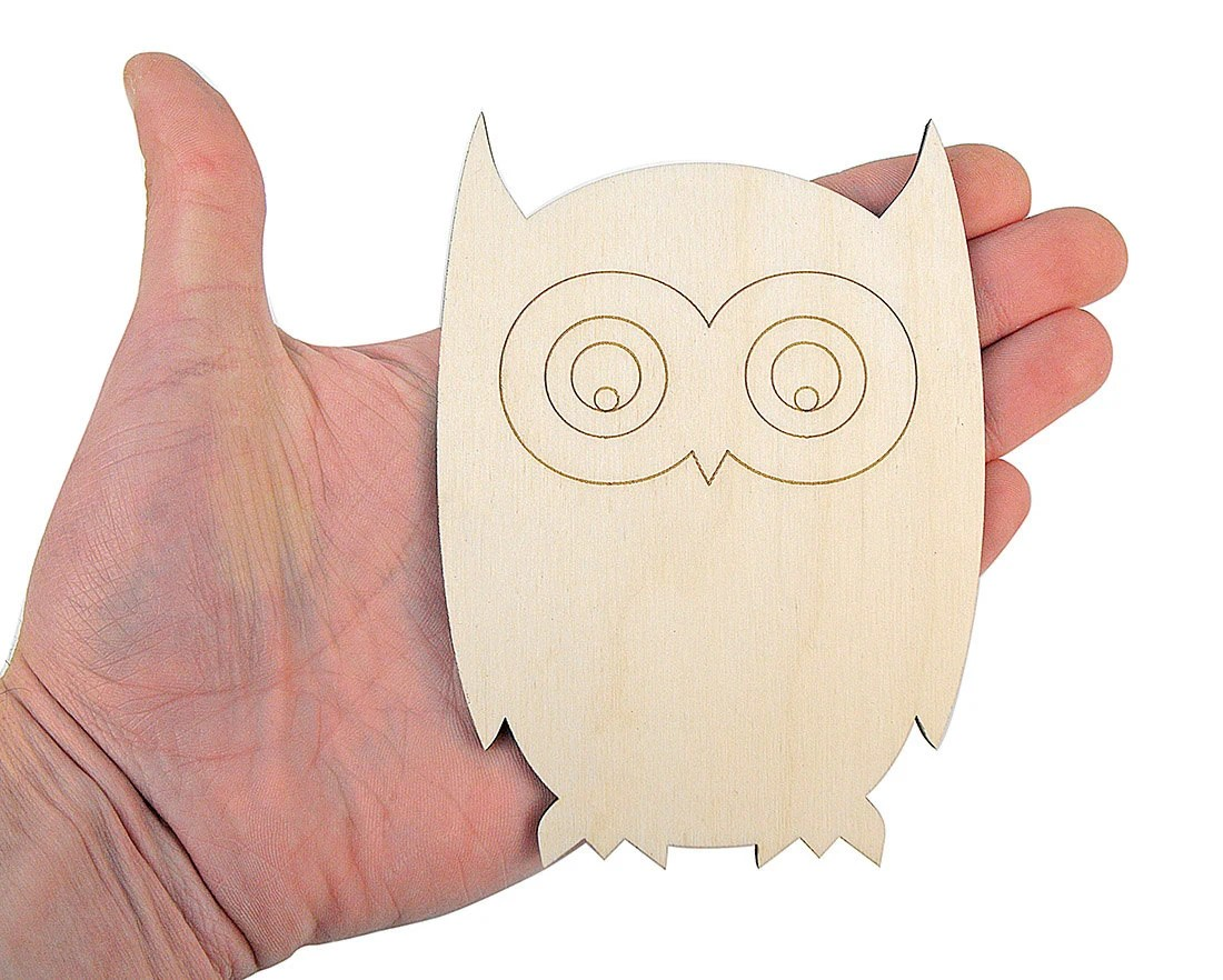 Wooden Owl 12cm Shape Owl Shapes Art Projects Craft Etsy