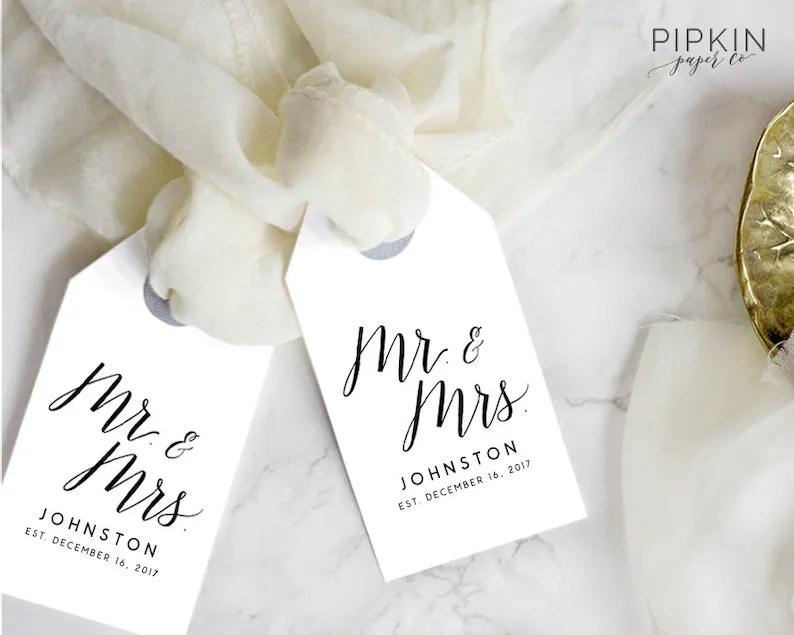 Printable Gift Tags for Wedding Favors Printable Wedding Etsy