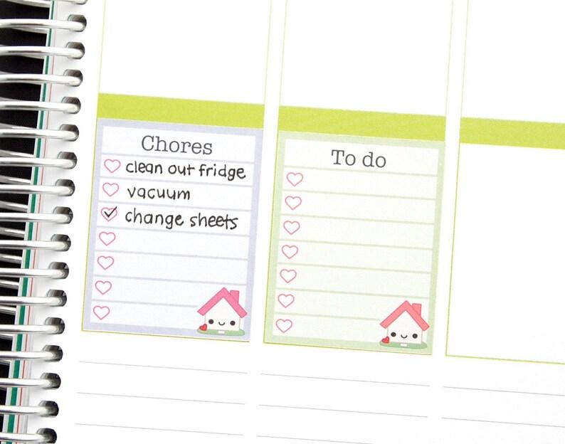 Happy Household Chores List Full Box Stickers for Erin Condren Etsy