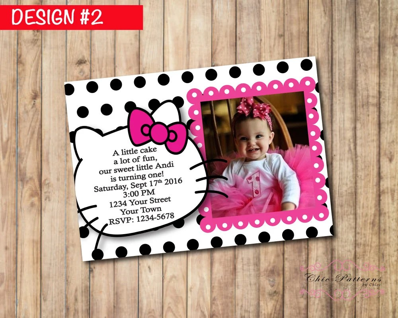 Printable Hello Kitty Birthday Invitation Personalized Hello Etsy
