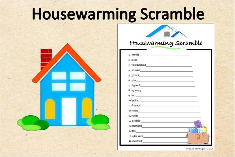 Instant Download Housewarming Word Scramble GamePrintable Etsy