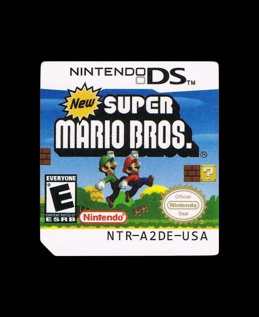 Cocina Conmigo Ds New Super Mario Bros Ds Label Sticker Replacement For Nintendo Ds Cartridge Precut Glossy No Game Included Free Shipping