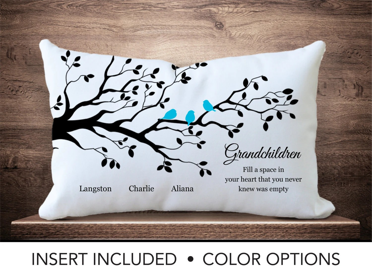 Calm Children Family Tree Pillow Personalized Parent Gift Mabirthday Mor Gifts Ma Tree Children Children Family Tree Pillow Personalized Parent Gift gifts Gifts For Grandma