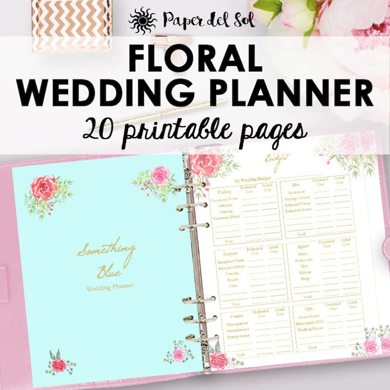 Wedding Planner Printable Wedding Planner Book Binder Etsy