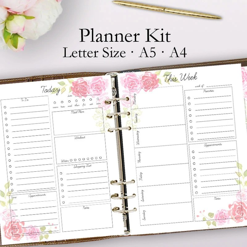 2019 Planner Printable Daily Planner Pages Weekly Planner Etsy - weekly planner pages