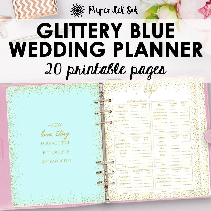 Wedding Planner Printable, Wedding Planning Checklist, Planner PDF, Binder  Printables, Gold Planning Printables Letter Size Instant Download