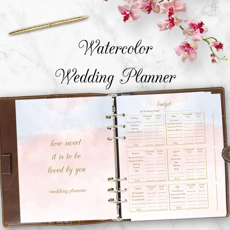 Wedding Planner Downloadable Wedding Planner Book PDF Etsy