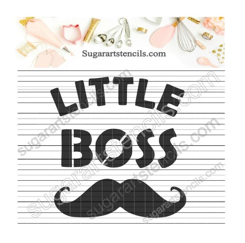 Little boss baby boy cookie stencil baby shower NB900782 Etsy