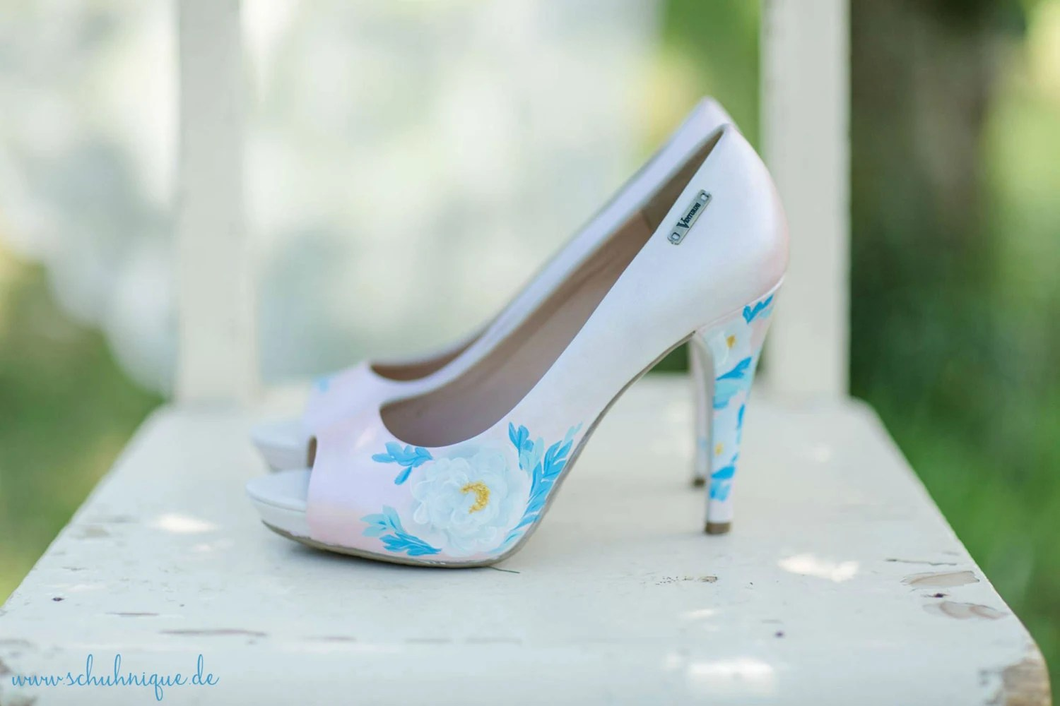 High Heels Hochzeit Hand Painted Costum Shoes Wedding Shoes Hochzeit Schuhe