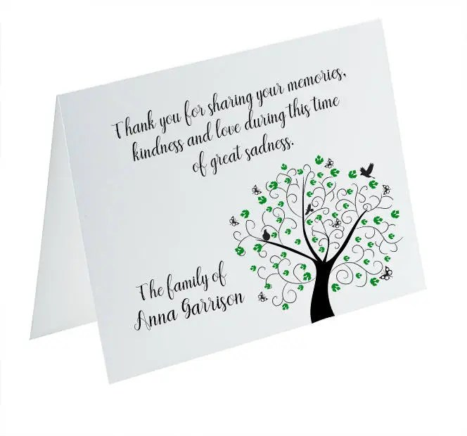 Funeral Thank You Cards, Sympathy Acknowledgement Cards, Bereavement