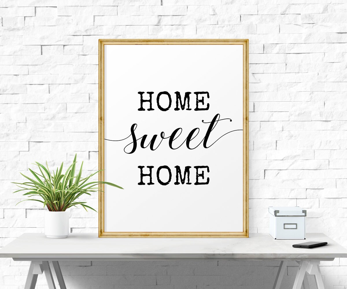 Affiche Scandinave Home Home Sweet Home Sign Apartment Decor Home Decor Home Sign Hand Lettering New Home Housewarming Gift Poster Affiche Scandinave Wall Art