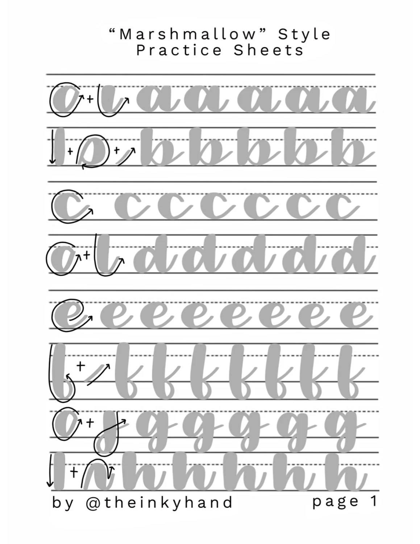 calligraphy template - Canasbergdorfbib