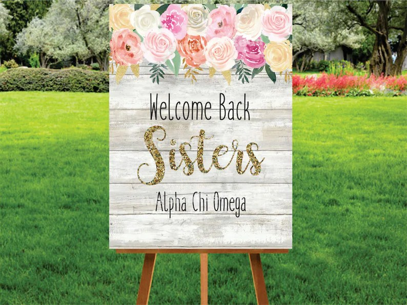 Sorority Printable Welcome Signs Big and Little Welcome Etsy