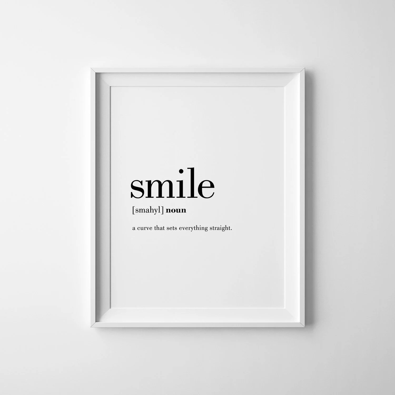 Arte Definition Francais Smile Print Smile Definition Poster Affiche Scandinave Smile Decor Definition Posters Smile Wall Art Cheer Up Gift