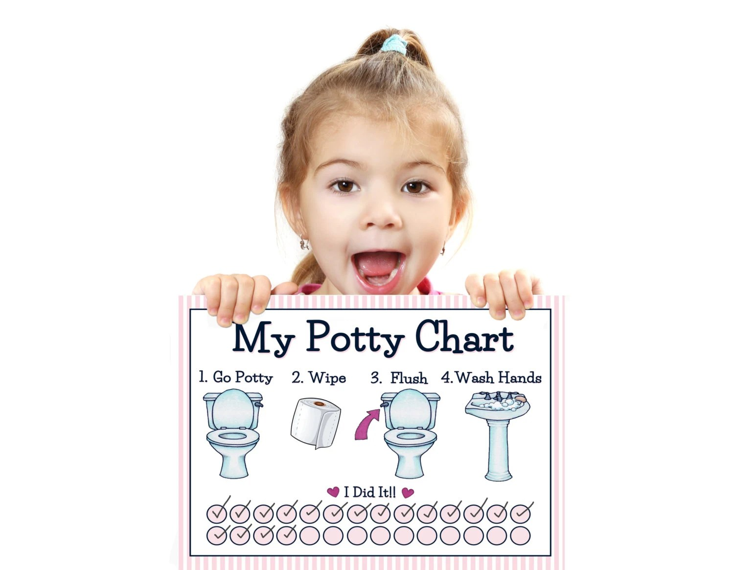 PRINTABLE GIRLS POTTY Training Chart Young Child/Toddler Etsy