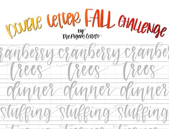 Practice Sheets Fall Double Letter Words For November Hand