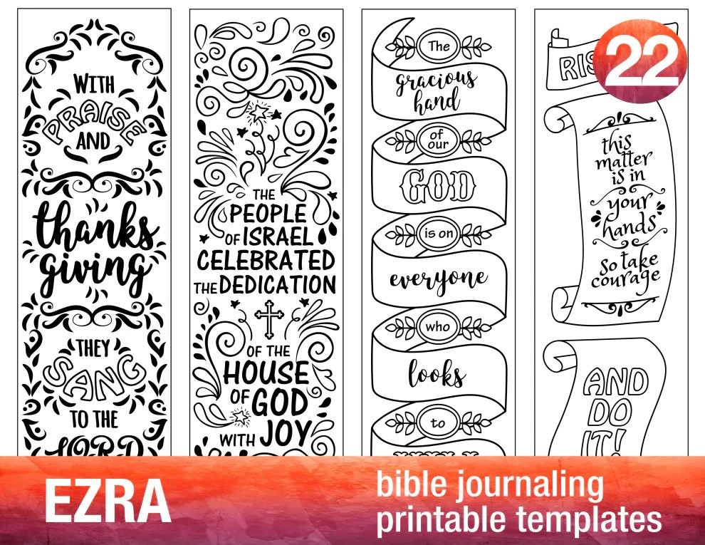 EZRA 4 Bible journaling printable templates illustrated Etsy