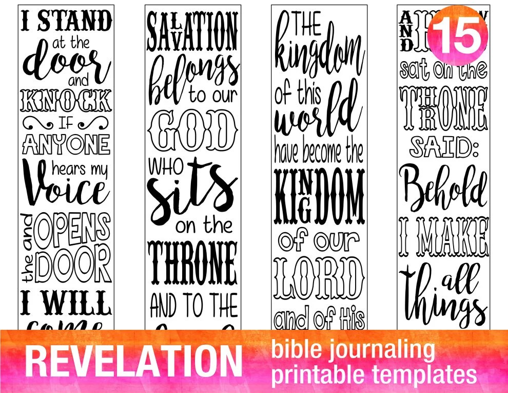 REVELATION 4 Bible journaling printable templates Etsy