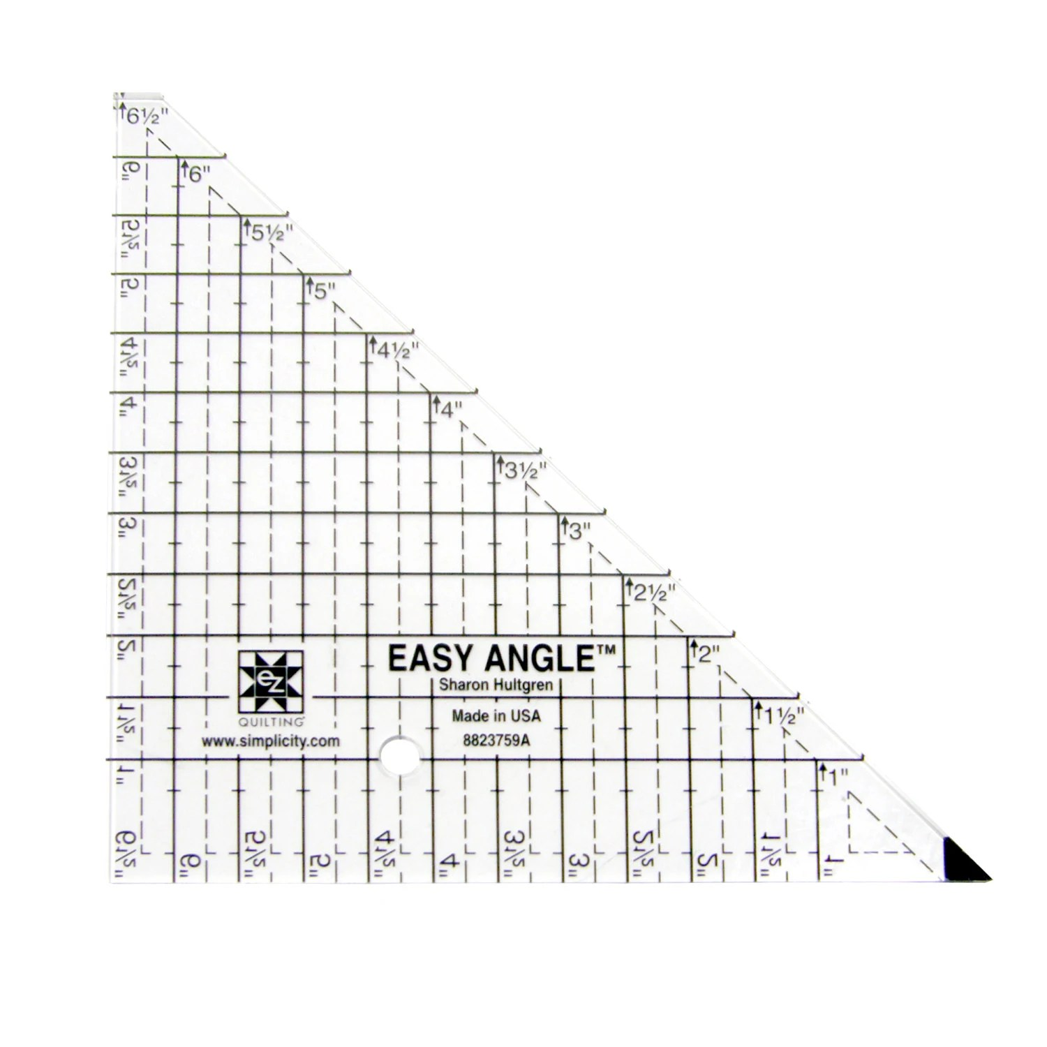 Easy Angle 65 Triangle Acrylic Quilting Template Etsy