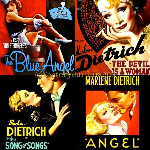 Vintage MARLENE DIETRICH Movie Posters Printable Digital Etsy