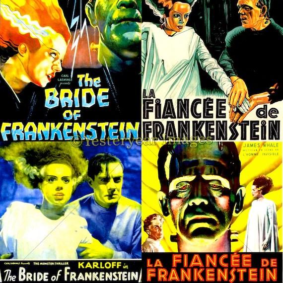 Vintage BRIDE of FRANKENSTEIN Movie Posters Printable Etsy