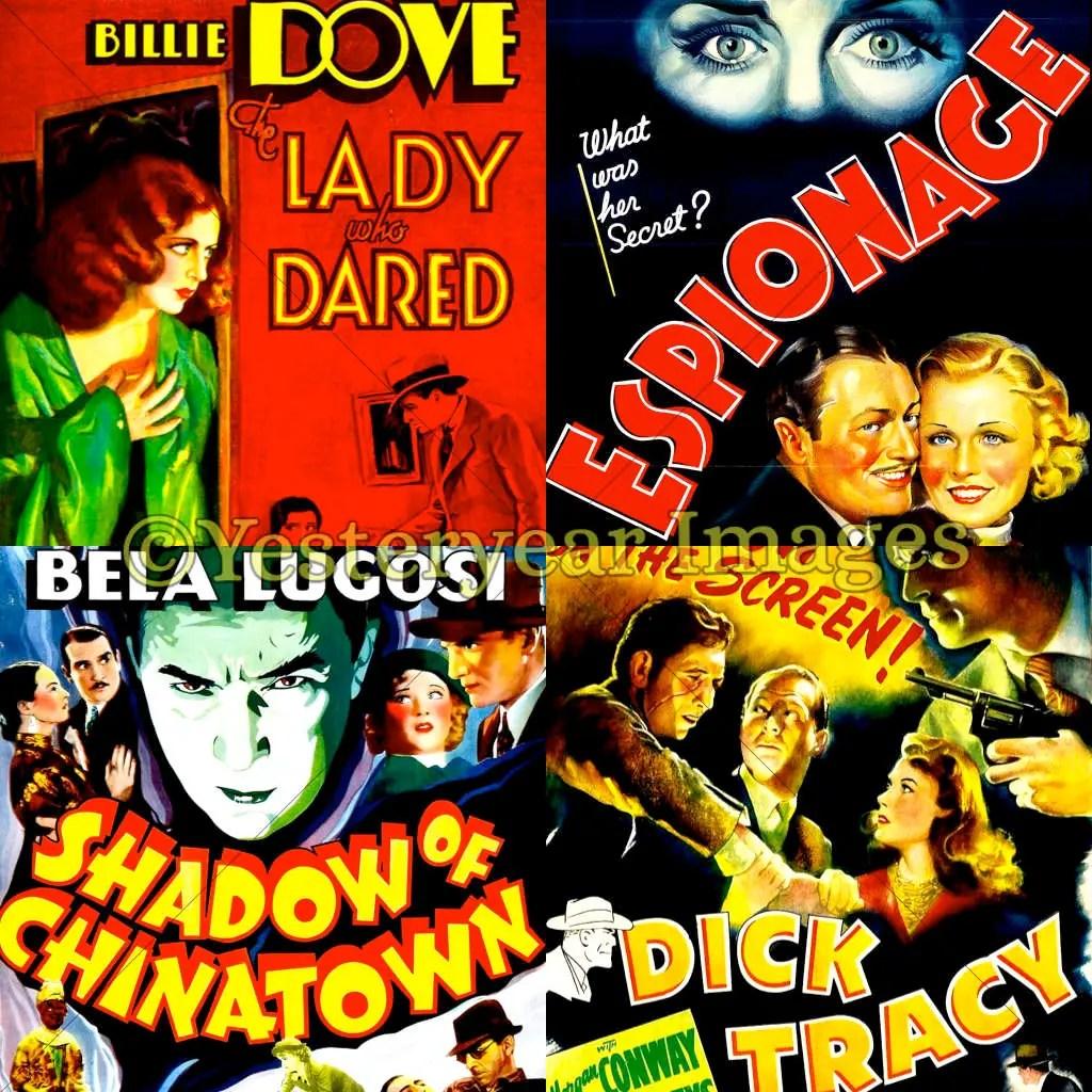 Vintage MOVIE MYSTERIES Movie Posters Printable Digital Etsy