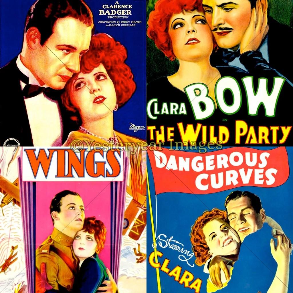 Vintage CLARA BOW Movie Posters B Printable Digital Images Etsy