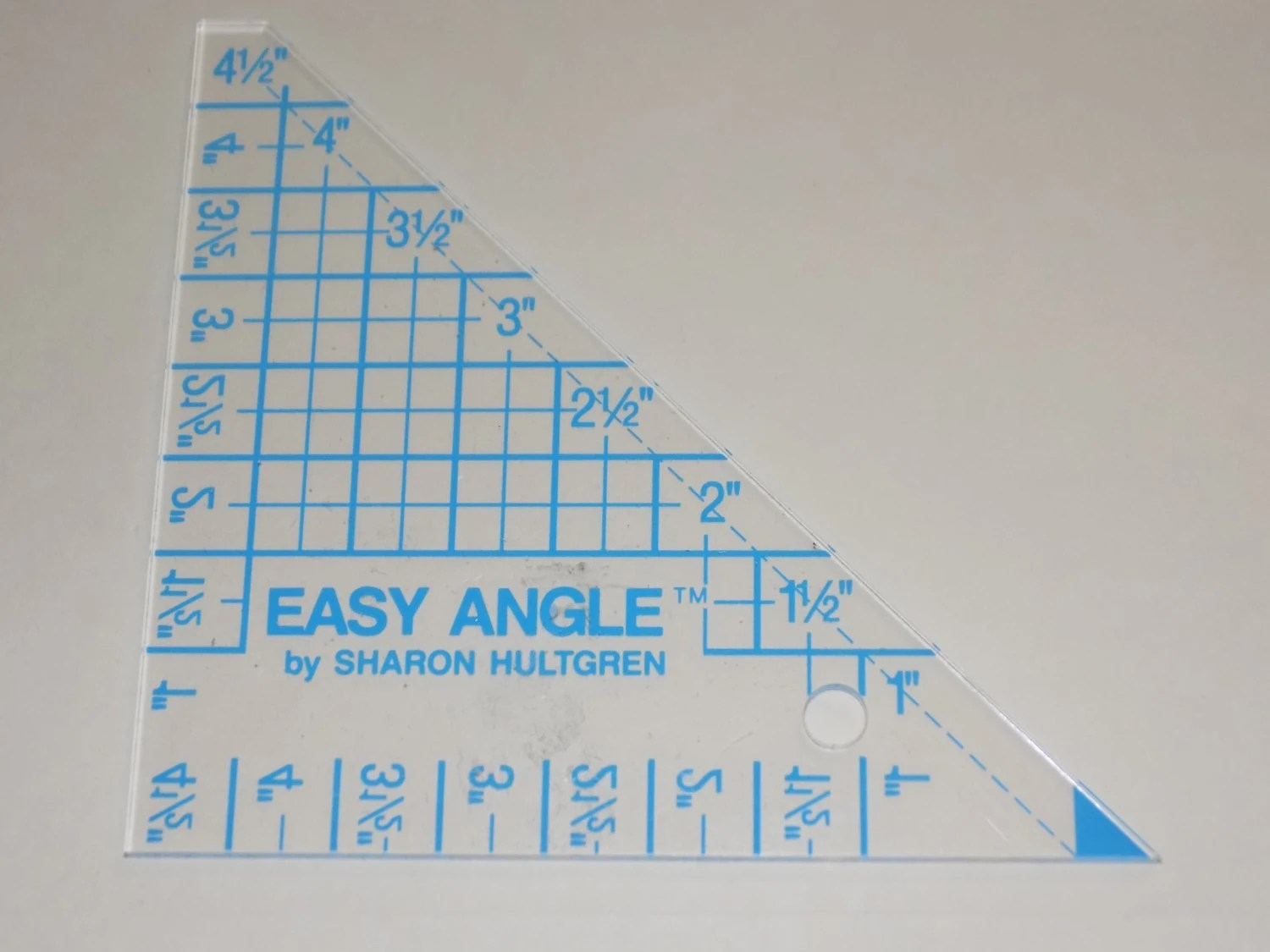 Easy Angle by Sharon Hultren Hard Plastic Right Angle Template Etsy