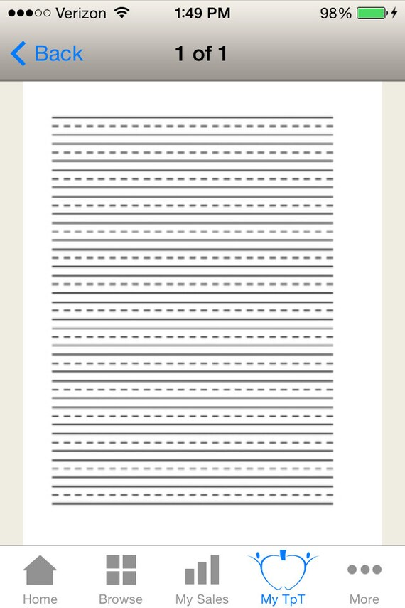 Primary Lined Writing Paper Etsy