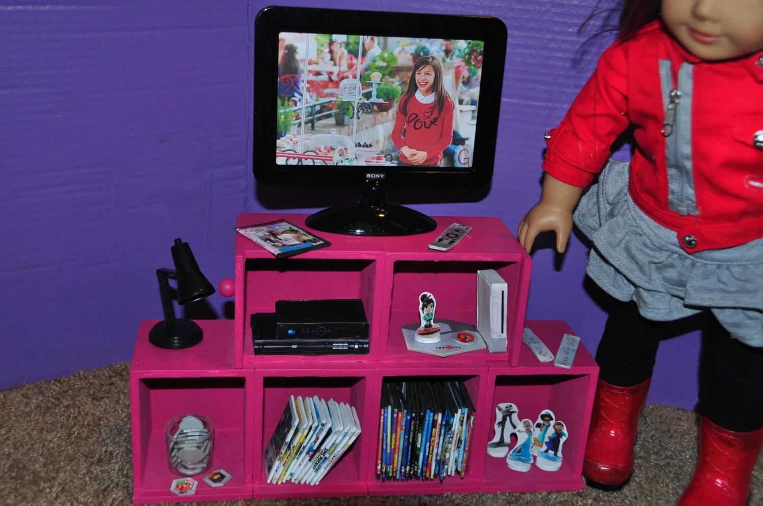 American Girl Doll inspired 18 inch Doll Wii Game System and Etsy