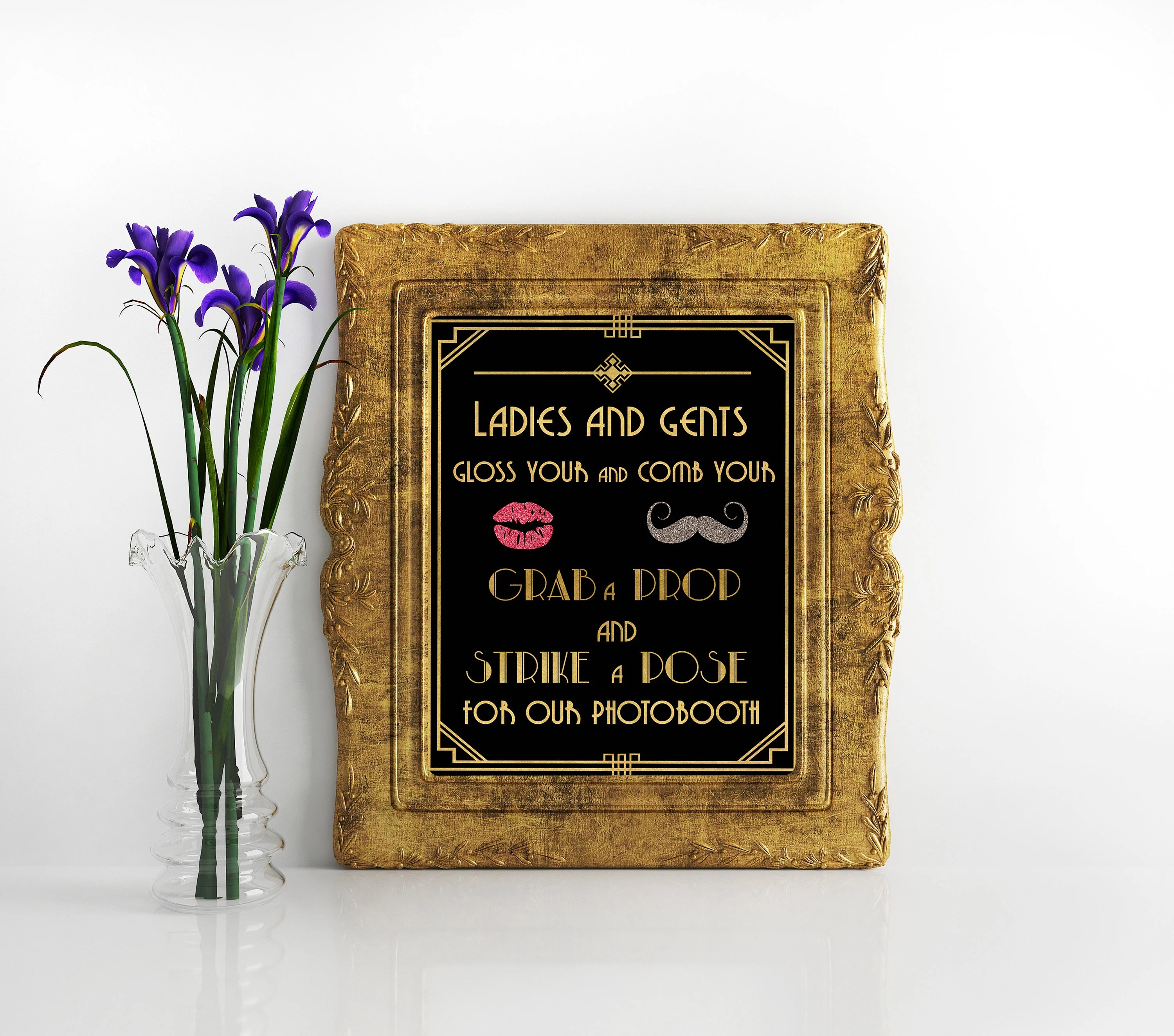 Decor Photobooth Great Gatsby Decorations Photobooth Grab A Prop And Strike A Pose Sign Great Gatsby Party Decor Photobooth Sign Gatsby Party Decorations