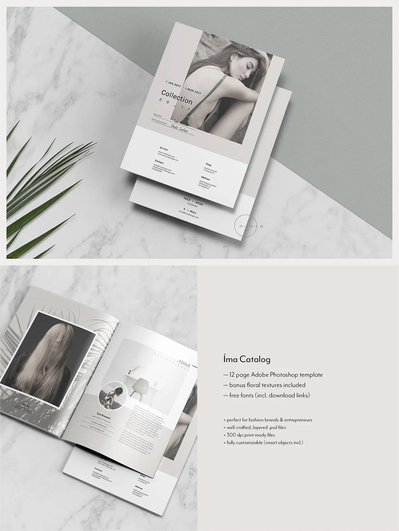 Editorial Catalog  Magazine Template PSD Lookbook Template Etsy
