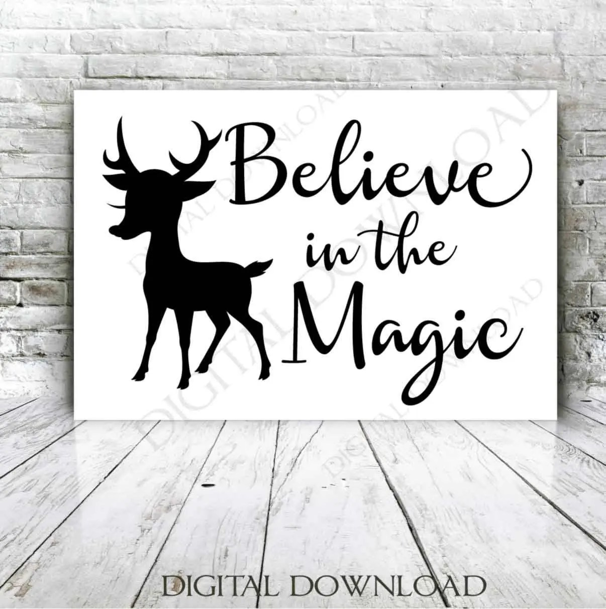 Christmas Vector SVG Clipart Quote Believe in the magic Etsy