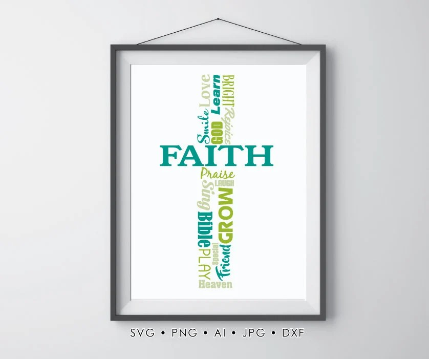 Christian Wall Art Printable SVG Clipart Quote for Vinyl Etsy