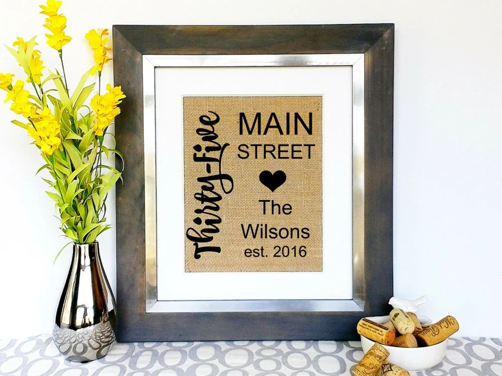 Housewarming Gifts For Young Couples Personalized Modern Address Sign Family Name Established Date Housewarming Gift House Warming Gifts For Couple Family New Home Present Art