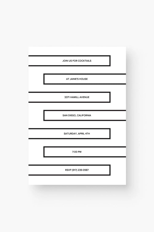Minimalist Invitation Template / Minimalist Invitation Etsy
