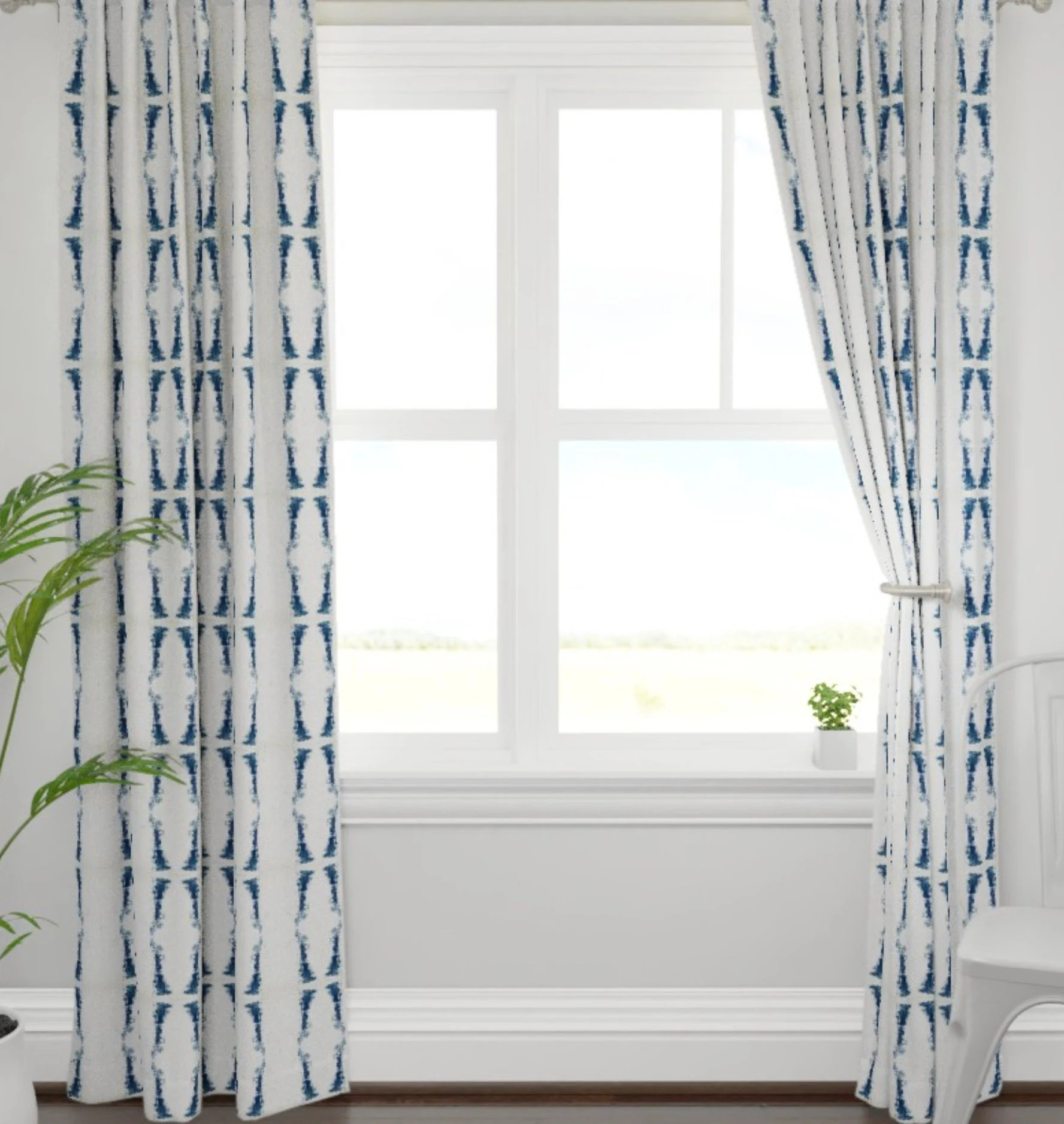 Dark Blue And Grey Curtains Navy Curtains Dark Blue And White Drapes Navy Ikat Curtains Navy Ikat Drapes Navy White Window Treatments Dining Room Curtains Navy Lined