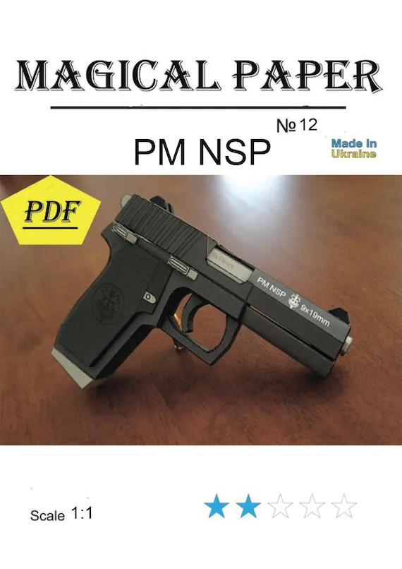Guns PM NSPscale 11 paper model kit3D paper craft model Etsy