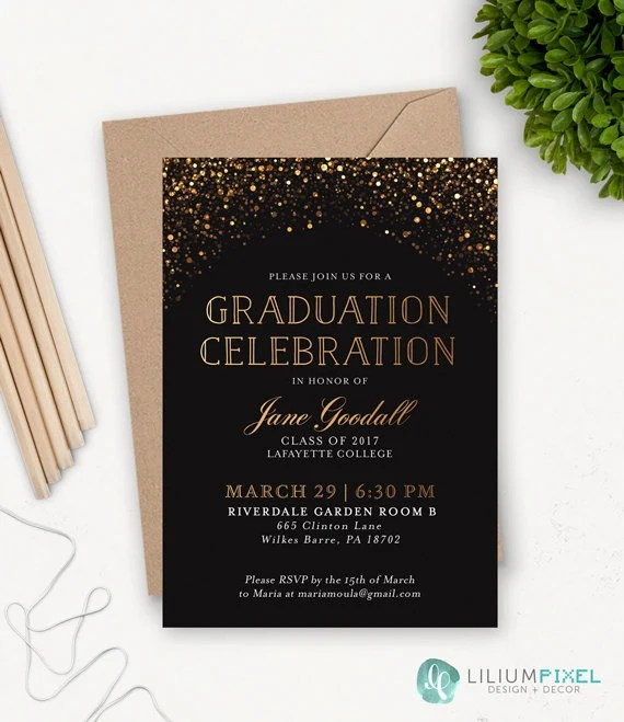 College Graduation Invitation Template / Grad Party Invites / Etsy