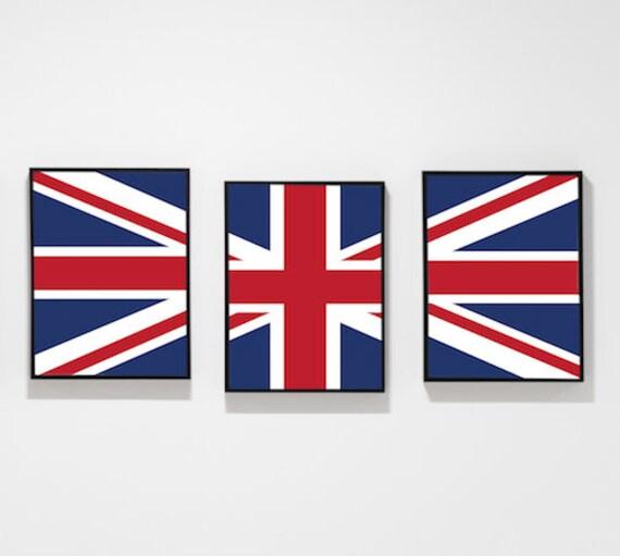 Printable Union Jack British Flag Home or Apartment Wall Decor Etsy