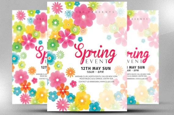 Spring Event Flyer Template Spring Festival Flyer Template Etsy - spring flyer template